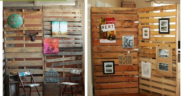 Palets en la pared ecodeco mobiliario ideas palets - Reciclaje de palet ...