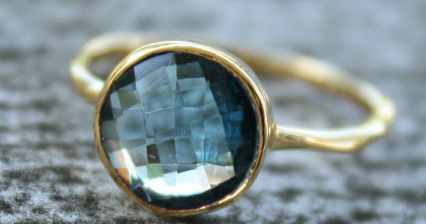 Gold Blue Topaz Ring, $57 ( love love love )