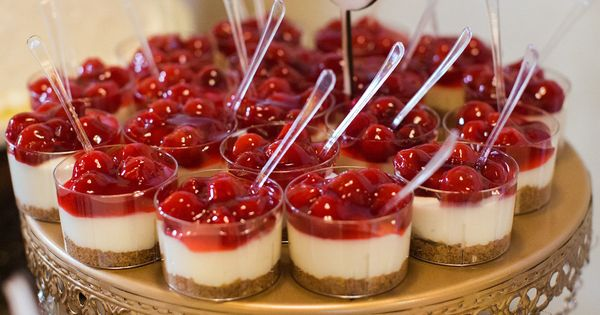 Mini Cherry Cheesecake Cups Yum For Your Wedding Cakes