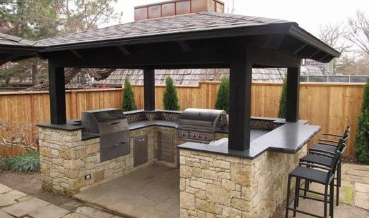 South Tulsa Outdoor Bbq Island Outdoors Pinterest