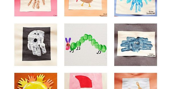 hand print and thumb print art ideas I love handprint art!!!