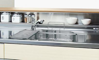 キッチン側手元収納あり キッチンユニット リシェルsi リビング キッチン