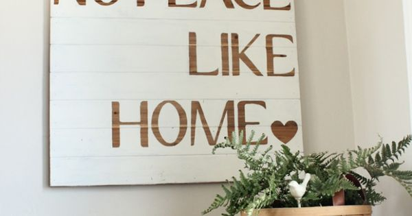 DIY Sign | The Wood Grain Cottage....this becomes especially true as a