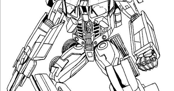 Optimus Prime Cartoon Robbot Coloring
