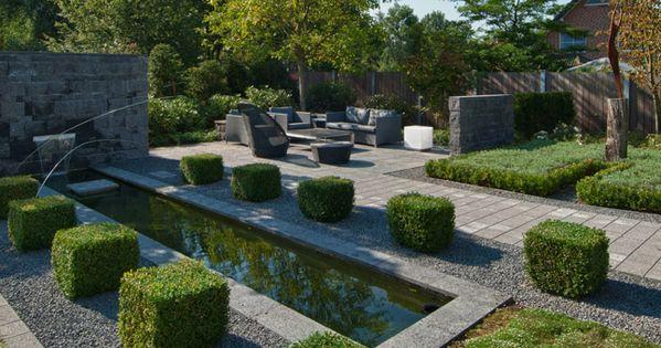 moderne gartengestaltung mit wasserbecken - google-suche   garden, Gartenarbeit ideen