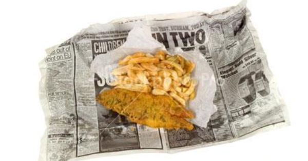 Fish and chips wrapped in newspaper but wrapped in for Fish and chips newspaper