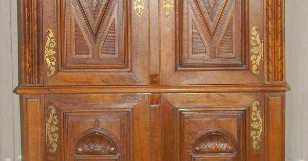 Mueble estilo renacimiento italiano 4 puertas con for Puertas diseno italiano