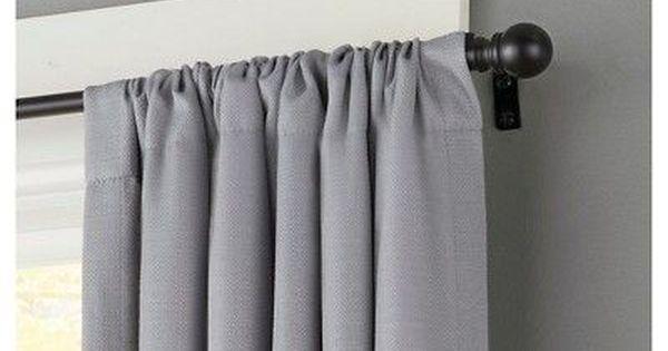 Davenport Curtain Rod Matte Black 1 2 Diameter 48 X86 Kenney