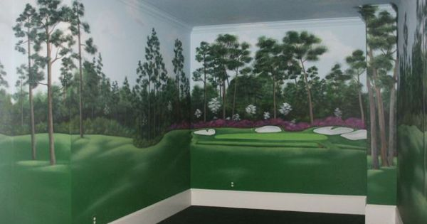 Golf design golf decorations golf and decoration for Augusta national wall mural