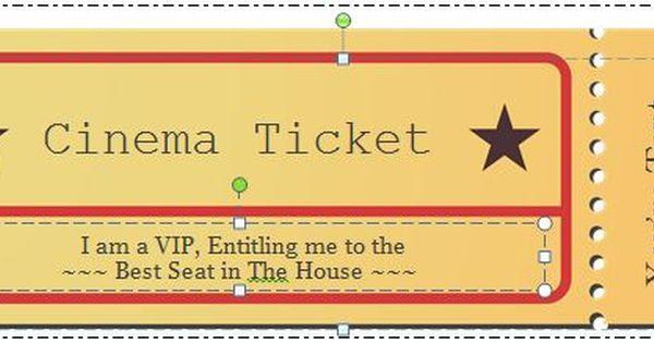 40 Free Editable Raffle Movie Ticket Templates Movie Ticket