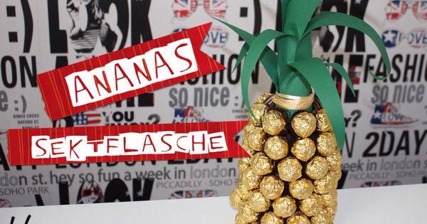 silvester geschenk ananas sektflasche sch nes. Black Bedroom Furniture Sets. Home Design Ideas