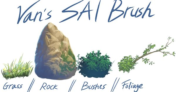 9 Paint Tool SAI Brushes - Gumroad