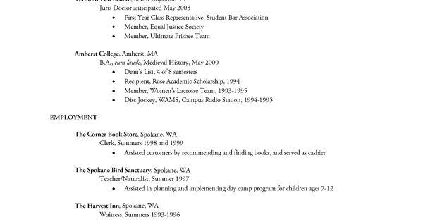 Sample Resume Showing Volunteer