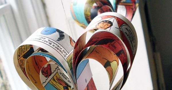 Wedding Decorations, Hearts, Love, Valentines. Make from favorite books, comics, movie posters,