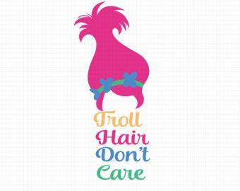 Girls or Boys Trolls Inspired Personalized Birthday Tee Shirt Poppy Troll Shirt Applique Embroidered Troll Shirt Troll Hair Shirt
