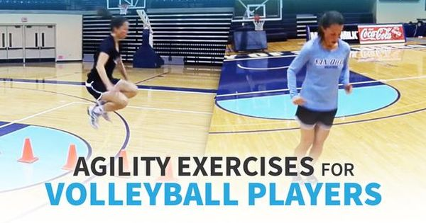 Agility Exercises For Volleyball Players The Art Of Coaching Volleyball Volleyball Workouts Volleyball Conditioning Volleyball Training
