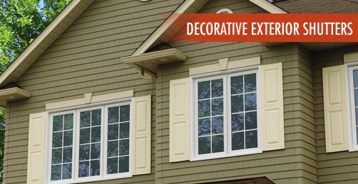 Exterior window trim ideas with shutters precious decorative exterior shutters windows and for Alternatives to exterior shutters