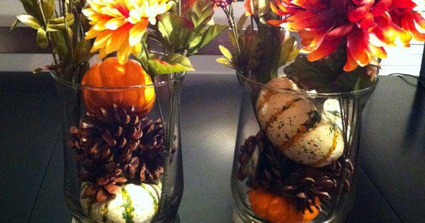 Haha DIY fall decor...I forgot orange ribbon!!  I love autumn ...