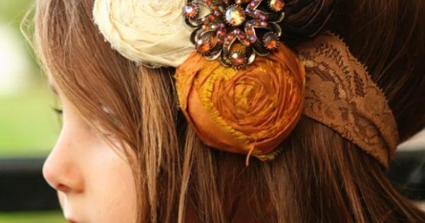 DIY headband - super cute! Flower girl