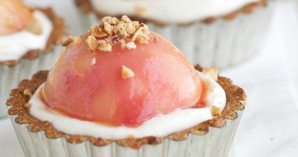 Peach Frangipane Tart w/ Creme Fraiche (Grain Free, Gluten Free, Paleo)