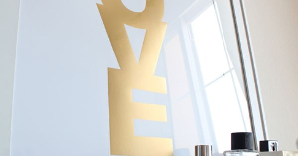love gold...easy to do on an old window or plain glass framed