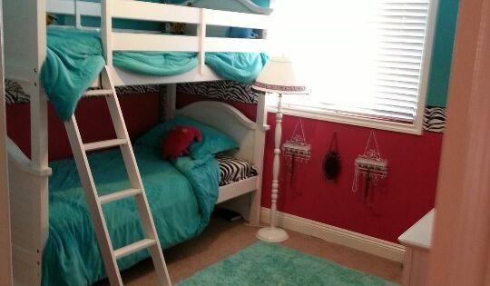 Bunk Beds Zebra Hot Pink Amp Light Aqua Almost Tiffany