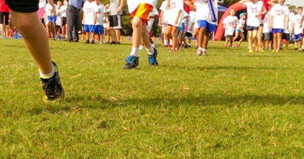 Funrun Walk A Thon Happy Kids Running Walking Shoes Feet Sneakers