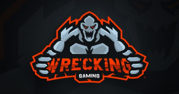 Wrecking Gaming Primary Logo Mascot Logo Design Logo Design Mascot Game Logo Design