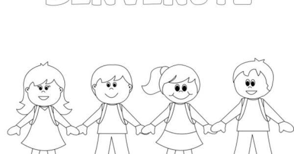 Disegni Da Colorare Di Bambini Che Si Tengono Per Mano.Accoglienza Archives Tutto Disegni Primo Giorno Di Scuola Disegni Bambini Scuola