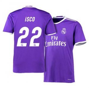 Real Madrid C F 16 17 Season Away Purple 22 Isco Soccer Jersey H398 Real Madrid Soccer Kits Soccer Jersey
