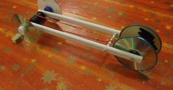 Rubber Band Powered Car. See our website for instructions and ...