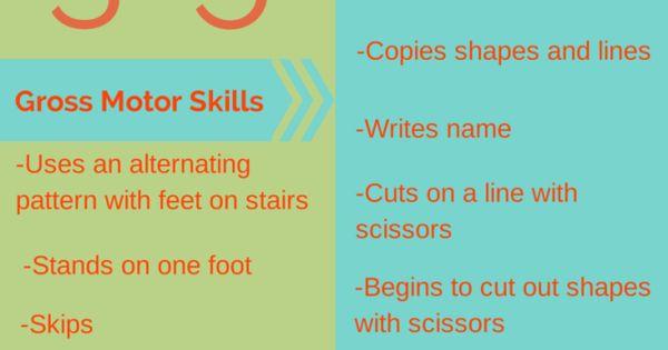 Preschool milestones ages 3 to 5 child development for Gross motor skills milestones