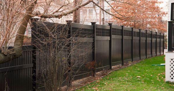 Black Privacy Fence Step Down Slope Fences Pinterest