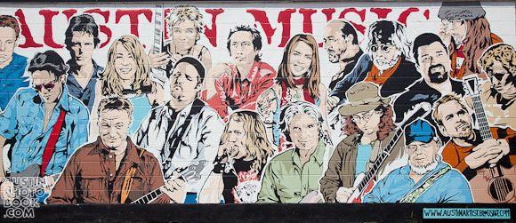 South Austin Music Mural S Lamar Blvd Austin Murals Austin Music Austin Artists