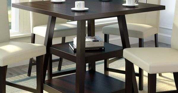 CorLiving Bistro Counter Height Dining Table with Shelves  : 3c79c97feb9b6c67c803628a94c2033b from www.pinterest.com size 600 x 315 jpeg 29kB