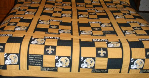 New Orleans Saints Quilt All About Drew Brees