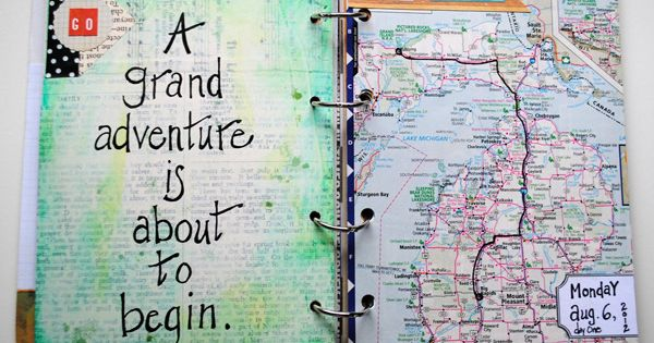 Map Crafts - Gift Ideas - A grand adventure is about to