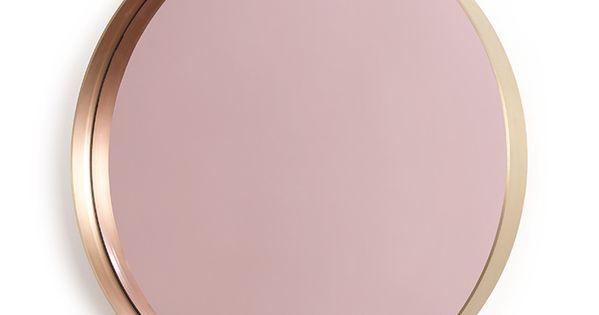 Miroir la vie en rose design herv langlais galerie for Miroir rose gold