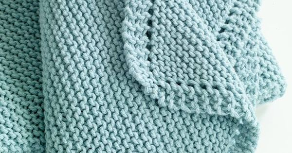 Garter stitch baby blanket Yarn-baby stuff Pinterest Garter stitch, Bla...