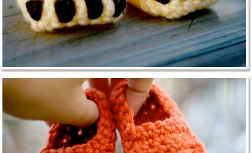 Crochet bear feet. babies booties
