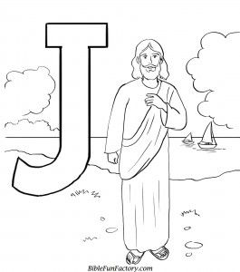 J is for Jesus coloring page | Jesus coloring pages ...