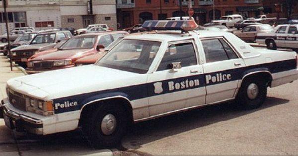 Boston Pd 1991 Ford Cvpi Police Cars Police Boston Police Department