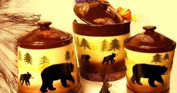 black bear kitchen accessories kitchen canisters black kitchen 4649