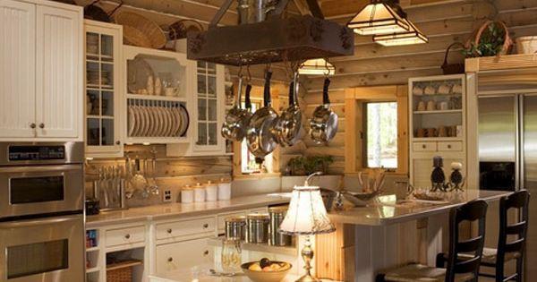 Beautiful log home kitchen