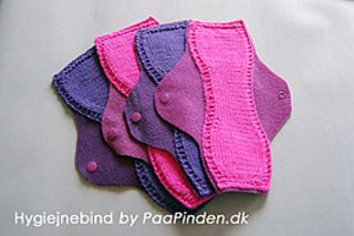 Reusable Panty Liners Knit Pattern Menstrual Pads Cloth
