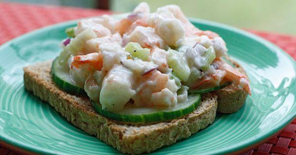 Shrimp Salad on Cucumber Slices | salad | Pinterest | Shrimp Salads ...