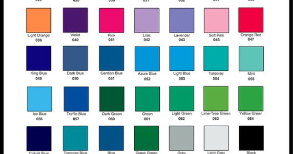 Solid Color Oracal 651 Vinyl Outdoor Craft Blanks