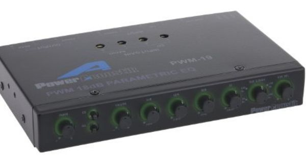 Power Acoustik Pwm 19 Pre Amp Equalizer With Subwoofer Gain