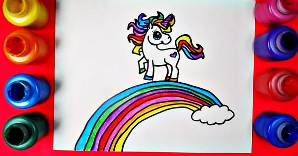 Rainbow Unicorn Coloring Page Inspired By Draw So Cute Unicorn Farting Unicorn Coloring Pages Coloring Pages Cute Unicorn