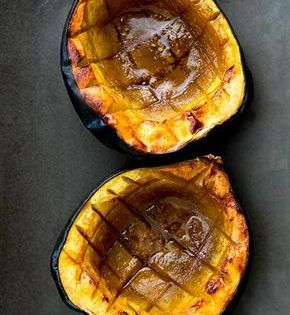 Baked Acorn Squash With Butter And Brown Sugar Recipe Food